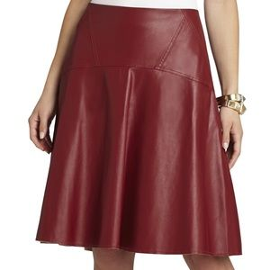 "NWT BCBGMAXAZRIA ""Camber"" vegan leather skirt"